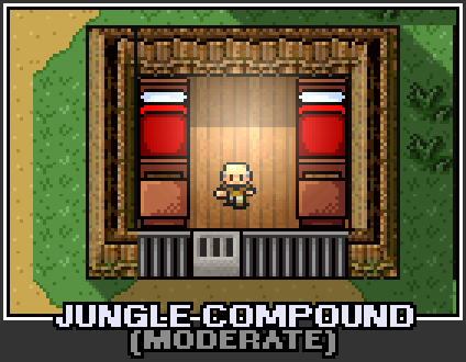 The prison selection screen for Jungle Compound