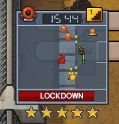 A prison in lockdown in te2