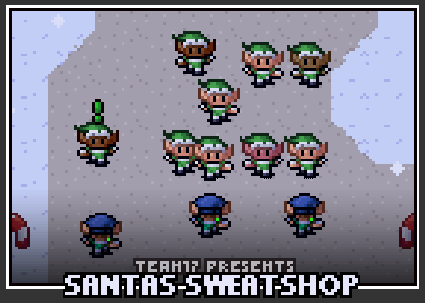 The prison seletion screen for Santa's Sweatshop