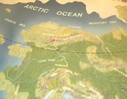 Brooks Range map of Alaska