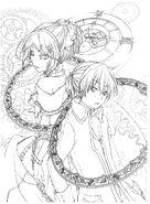 Hatsune Miku coloring book 2 feat. Rin & Len (arte conceptual)