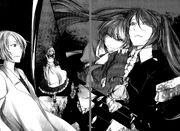 Levia, Behemo, Irina y Eve (Quinto Pierrot)
