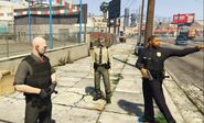 Freddy and police