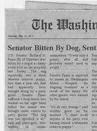 Senator Bitten by Dog