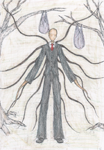 Slenderman Coloured Cropped