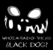 Pixel Black Dog