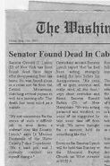 Senator Found Dead in Cabin
