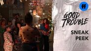 Good Trouble Season 2 Holiday Special Sneak Peek Christmas At The Coterie Freeform