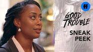 Good Trouble Season 2 Summer Finale Sneak Peek Malika Goes Undercover Freeform
