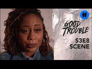 Good Trouble Season 3, Episode 8 - Malika Tells Isaac the Truth - Freeform