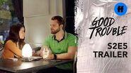 Good Trouble Season 2, Episode 5 Trailer Evan & Mariana Get Personal
