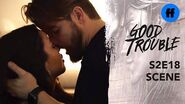 Good Trouble Season 2, Finale Evan & Mariana Kiss For The First Time Freeform