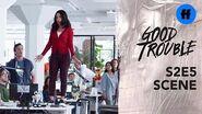 Good Trouble Season 2, Episode 5 Mariana's Office Announcement Freeform