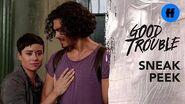 Good Trouble Season 1 Finale Sneak Peek Alice's Parents Visit The Coterie Freeform