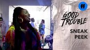 Good Trouble Season 2 Finale Sneak Peek Malika Arrives at Trap Heals Freeform