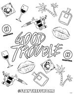 Good Trouble Coloring Page2