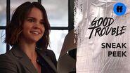 Good Trouble Season 2, Episode 14 Sneak Peek Callie Finds Out About Gael's New Friend Freeform