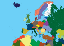 High detalied map of europe