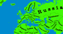 Map of Europe (No Names) for the wiki