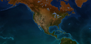 Terrain map of north america