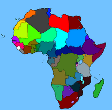 Colored map of Africa by Mason Vank