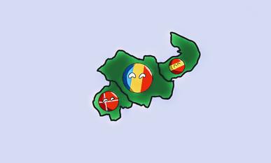Denmark, Romania and Spain's Colonies on an alternative land mass~3