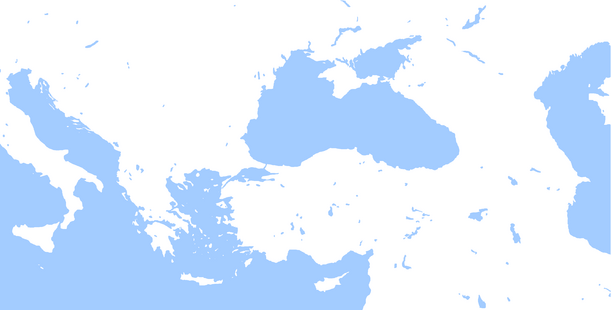 Blank map of Black Sea region