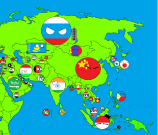 Map of asia countryballs (UPDATED)