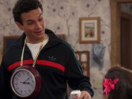 Barry wearing a clock
