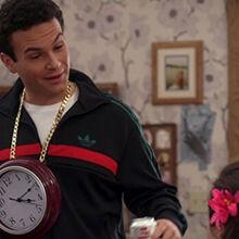 Barry wearing a clock.jpeg