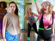 Erica and Beverly in Jazzercise Class