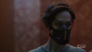 709 Echo wearing a mask