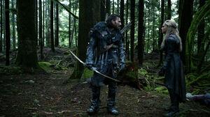 The 100 season 3 episode 15 Clarke & Roan
