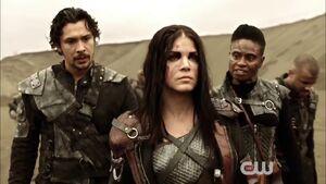 The Dark Year - Octavia, Indra and Bellamy