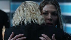 Clarke hugs Abby 6x12