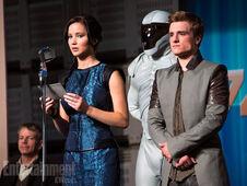Katniss y Peeta en la gira