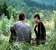 Гейл и Китнисс на Луговине