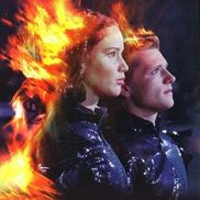 Katniss and Peeta on fire