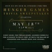 Hunger Games Trivia Sweepstakes