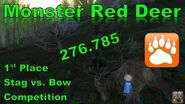 Monster 276.785 Red Deer 1st Place Stag vs
