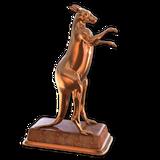 Red kangaroo bronze