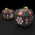 Deployable target archery cubes