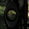 Compound bow sight closeup