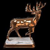 Whitetail deer bronze