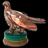 White tailed ptarmigan bronze