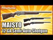Maisto Semi-Auto Shotgun and Piebald Wild Boar - theHunter Classic