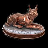 Eurasian lynx bronze