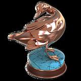 American black duck bronze