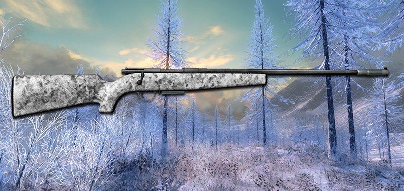 .300 Bolt Action Rifle (Winter Camo)