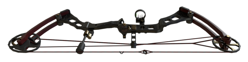 Compound Bow Red Dragon (Oriental)